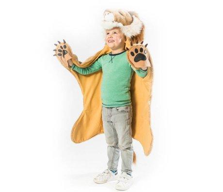 Wild & Soft Kindervermomming Leeuw bruin textiel 89x116x16cm