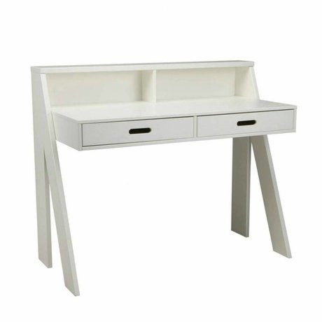 LEF collections Children's Desk 'Max' white pine 112x55x93cm