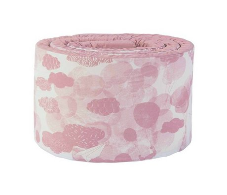 Sebra Baby bed bumper In the sky pink cotton 345x4x30cm