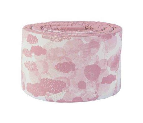 Sebra Baby bedbumper In the sky roze katoen 345x4x30cm