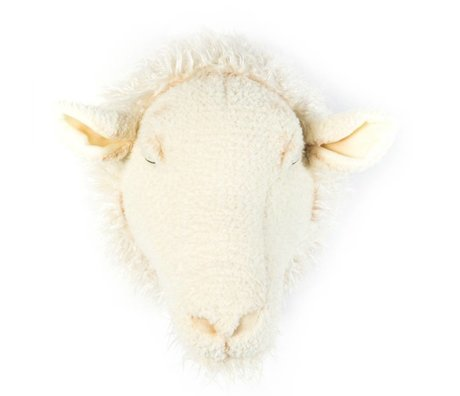 Wild & Soft Dierenkop schaap Harry wit 29x25x28