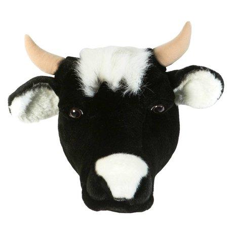 Wild & Soft Dierenkop koe Daisy zwart 33x40x30