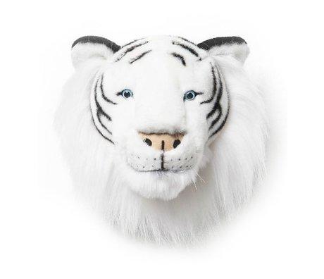 Wild & Soft Dierenkop tijger Albert wit 25x30x30