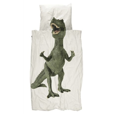 Snurk Beddengoed Kinderbeddengoed Dino multicolour katoen 140x200/220cm-60x70cm