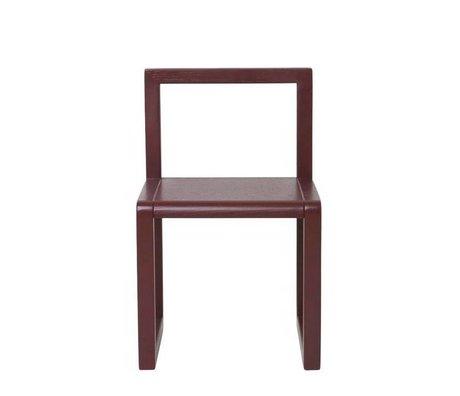Ferm Living kids Kinderstoel Little Architect bordeaux rood hout 32x51x30cm
