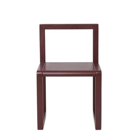 Ferm Living kids Chair Little Architect burgundy wood 32x51x30cm