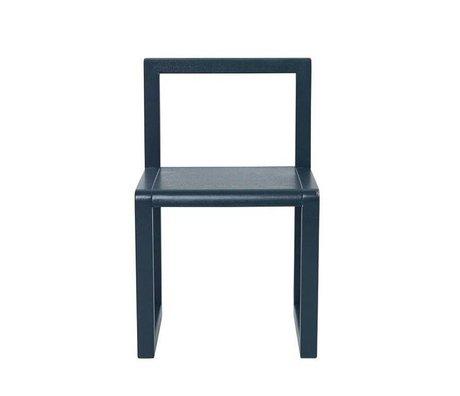 Ferm Living kids Kinderstoel Little Architect donkerblauw hout 32x51x30cm