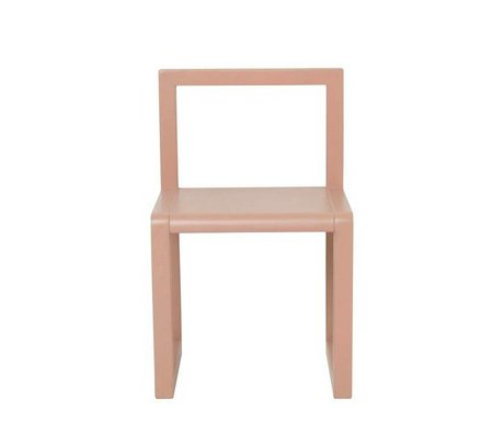 Ferm Living kids Kinderstoel Little Architect roze hout 32x51x30cm