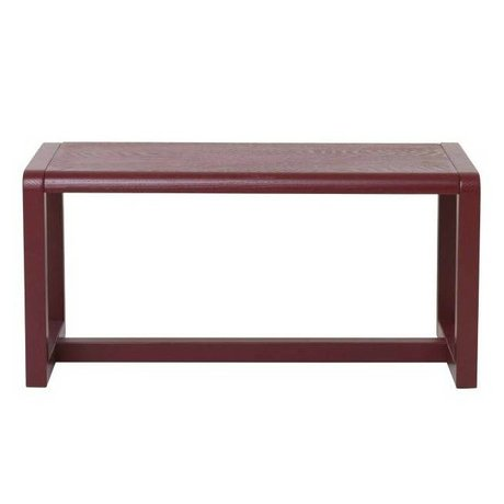 Ferm Living kids Kinderbankje Little Architect bordeaux rood hout 62x30x30cm