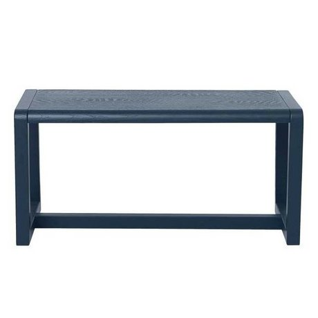 Ferm Living kids Children's Bench Little Architect dark wood 62x30x30cm