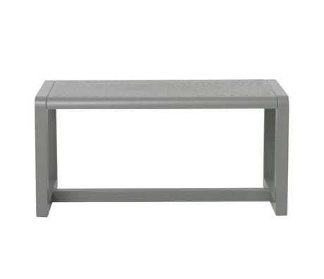 Ferm Living kids Children's Bench Little Architect gray wood 62x30x30cm