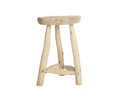 Housedoctor Children Stool wood white 31cm h48cm