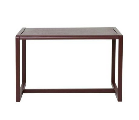 Ferm Living kids Kindertafel Little Architect bordeaux rood hout 76x55x43cm