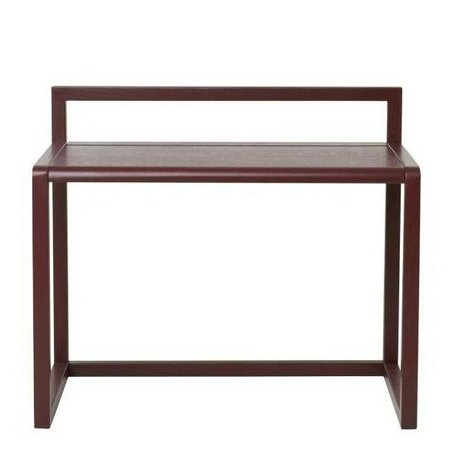 Ferm Living kids Kinderbureau Little Architect bordeaux rood hout 70x45x60cm