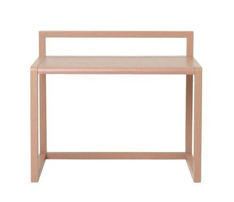 Ferm Living kids Kinderbureau Little Architect roze hout 70x45x60cm