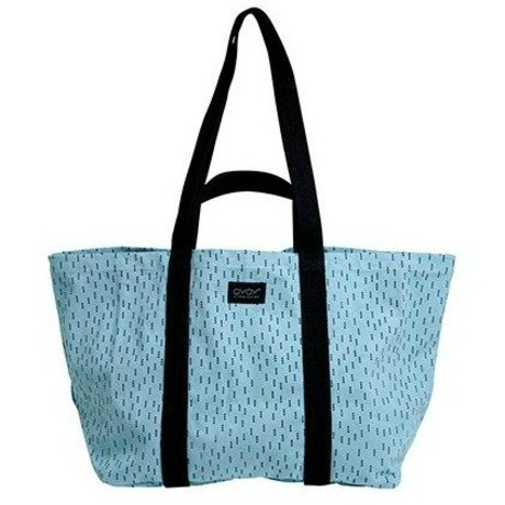 OYOY Kindertas Mami big blue black cotton 28x46x38cm