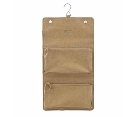 Housedoctor Toilettas Nomadic power paper brown 46x25cm