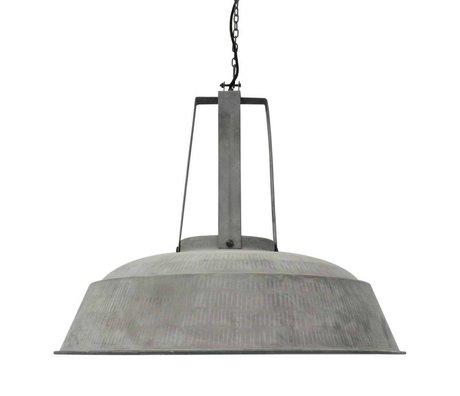HK-living Pendant lamp workshop XL gray mat metal 74x74x70cm