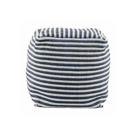 Housedoctor Kinderpoef Function zwart wit textiel 40x40x40cm