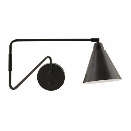 Housedoctor Children's Wall Lamp Game metallic black / white 15x13x70cm