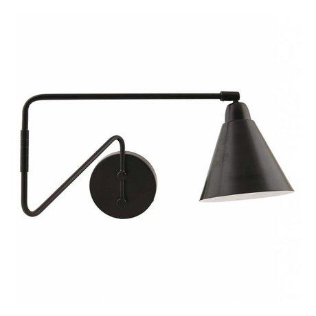 Housedoctor Kinderwandlamp Game metaal zwart/wit 15x13x70cm