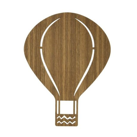 Ferm Living kids Kinderandlamp air balloon wood 26,5x34,55cm, Smoked oak