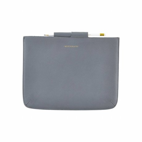 Housedoctor Cover Ipad blue leather / cotton 29x22cm