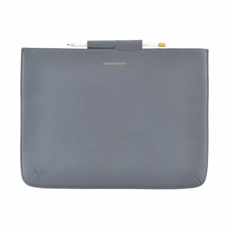 Housedoctor Cover Ipad Pro blue leather / cotton 35,5x26,5cm