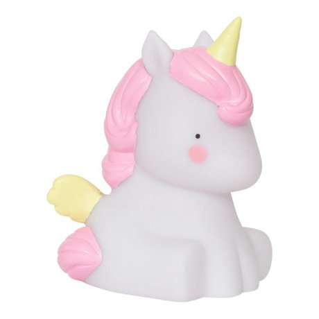 A Little Lovely Company Children's table lamp Unicorn multicolour 10x8,5x12,5cm