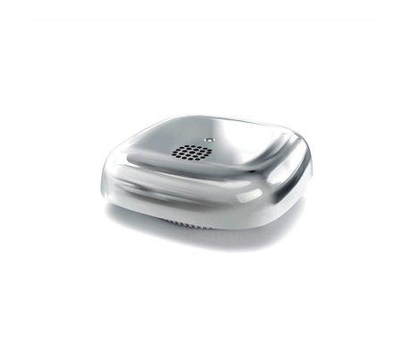 Jalo Smoke detector Kupu 10 silver chrome plastic 11x11x3,9cm