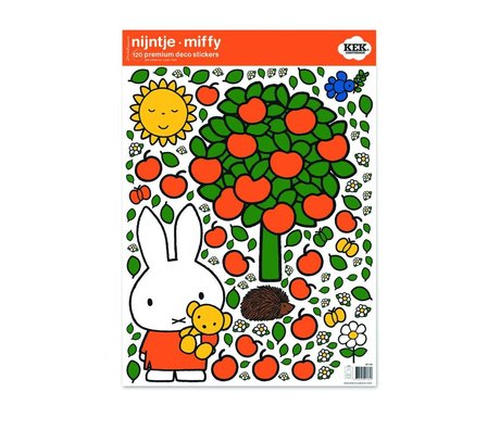 KEK Amsterdam Wall sticker Nijntje appelboom multicolour vinyl foil M 42x59cm