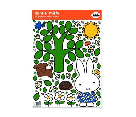 KEK Amsterdam Wall sticker Miffy big tree multicolor vinyl foil M 42x59cm