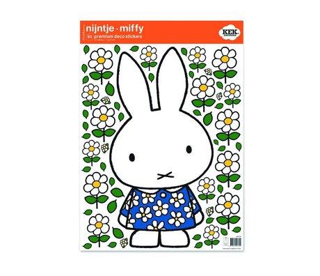 KEK Amsterdam Wall sticker Nijntje floral dress multicolour vinyl foil M 42x59cm