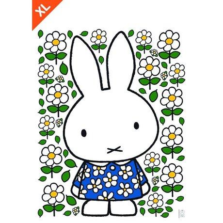 KEK Amsterdam Wall Sticker Nijntje Floral Dress Multicolour Vinyl Folie XL 94x120cm