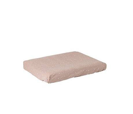 Ferm Living kids Changing pad cover Hush milkyway pink cotton
