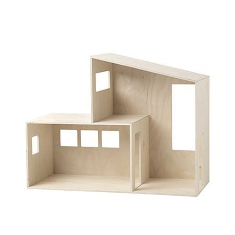 Ferm Living kids Dollhouse Funkis small wood 47.7x36.4x20cm