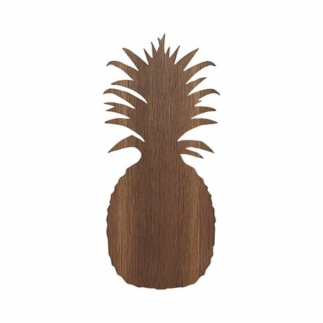 Ferm Living kids Wall lamp Pineapple brown oak 17.5x38cm