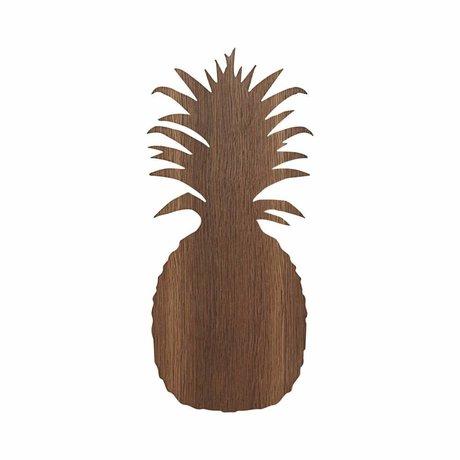 Ferm Living kids Wandlamp Ananas bruin eikenhout 17.5x38cm