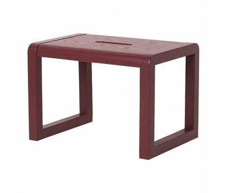 Ferm Living kids Stoel Little Architect bordeaux rood hout 33x23x23cm