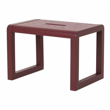 Ferm Living kids Chair Little Architect bordeaux red wood 33x23x23cm