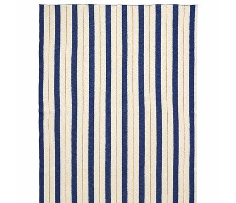 Ferm Living kids Plaid Pinstripe blauw textiel 160x120cm