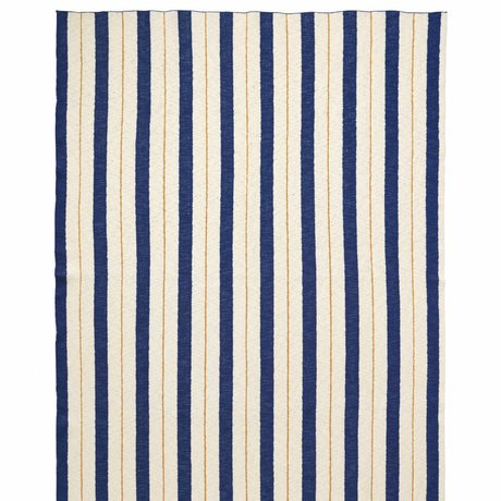 Ferm Living kids Plaid Pinstripe blue textile 160x120cm