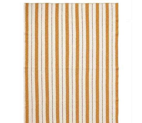 Ferm Living kids Plaid Pinstripe mosterdgeel textiel 160x120cm