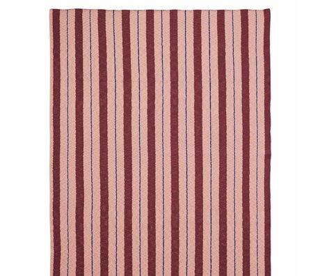 Ferm Living kids Plaid Pinstripe pink textile 160x120cm