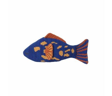 Ferm Living kids Knuffel fruiticana Leopard fish katoen 28x14cm