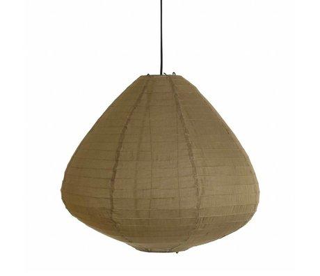 HK-living Kinderlampion khaki bruin stof 65cm