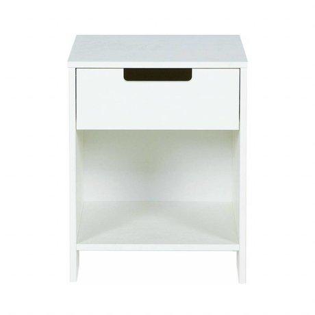 LEF collections Kindernachtkastje 'Jade' wit grenen 52x40x33cm
