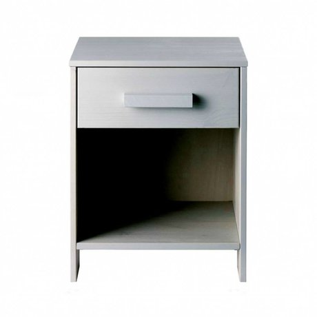 LEF collections Children Eight cabinet Dennis concrete gray brushed pine 40x34x52cm