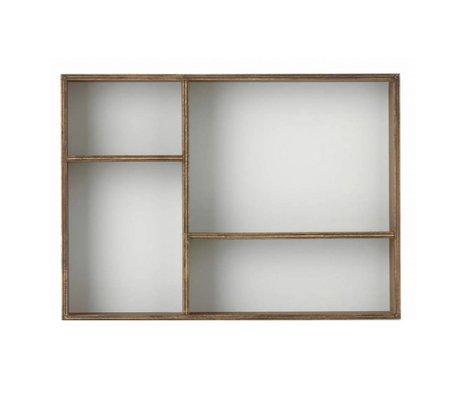 Ferm Living kids Kinderwandkastje 'Organiser grey' eiken fineer/grijs 24x33x6cm
