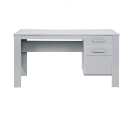 LEF collections Children's Bureau 'Dennis' concrete gray brushed pine 140x59x74cm